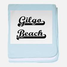 Gilgo Beach Classic Retro Design baby blanket