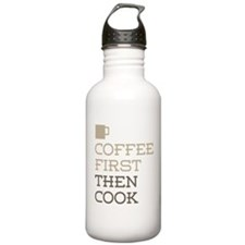 Coffee Then Cook Water Bottle