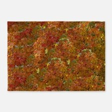 leaves changing 5'x7'Area Rug