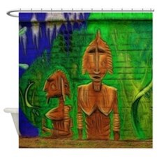 Graffiti in Berlin/Germany Shower Curtain