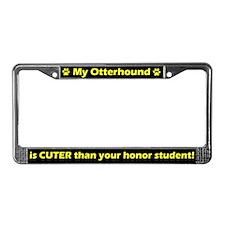 Honor Student Otterhound License Plate Frame