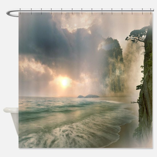 Cute Misty Shower Curtain