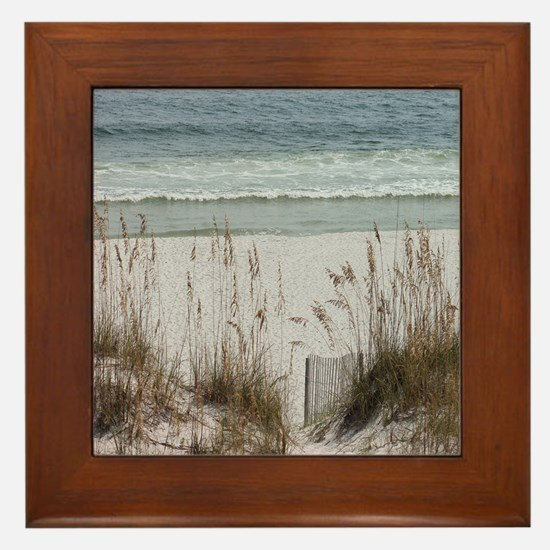 Sandy Beach Framed Tile