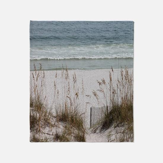 Sandy Beach Throw Blanket
