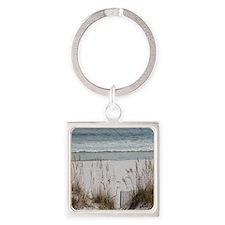 Sandy Beach Square Keychain