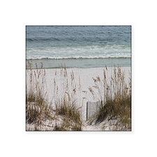 "Sandy Beach Square Sticker 3"" x 3"""