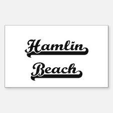Hamlin Beach Classic Retro Design Decal