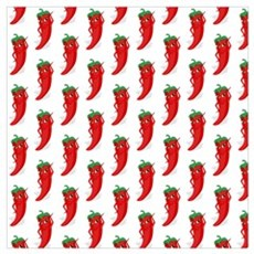 Pepper Diva Pattern Canvas Art