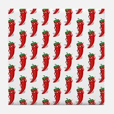 Pepper Diva Pattern Tile Coaster