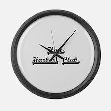 Hay Harbor Club Classic Retro Des Large Wall Clock