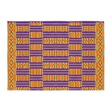 Colorful Kente Pattern 5'x7'Area Rug