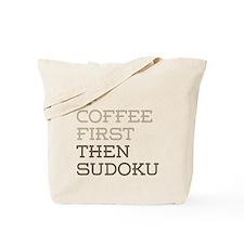 Coffee Then Sudoku Tote Bag