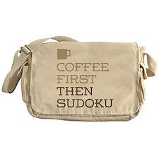 Coffee Then Sudoku Messenger Bag