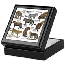 Leopards of the World Keepsake Box