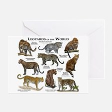 Leopards of the World Greeting Card