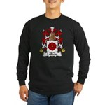 Lafleche Family Crest Long Sleeve Dark T-Shirt
