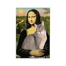 Mona & her Blue Abbyssinian Rectangle Magnet