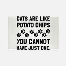 Cats Like Potato Chips Magnets