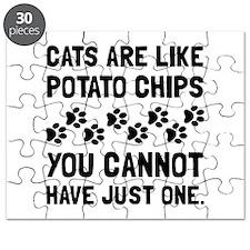 Cats Like Potato Chips Puzzle