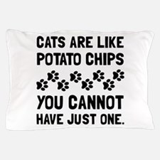 Cats Like Potato Chips Pillow Case