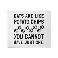 Cats Like Potato Chips Throw Blanket
