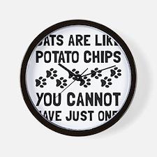 Cats Like Potato Chips Wall Clock