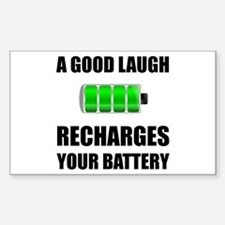 Laugh Recharges Battery Decal