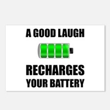 Laugh Recharges Battery Postcards (Package of 8)