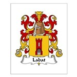 Labat Family Crest Small Poster