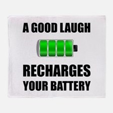 Laugh Recharges Battery Throw Blanket