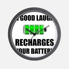 Laugh Recharges Battery Wall Clock