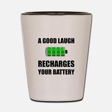Laugh Recharges Battery Shot Glass