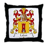 Labat Family Crest Throw Pillow