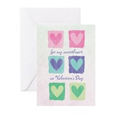 Boxes of Hearts Valentine's Greeting Cards (10 pk)