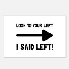 Look Left Postcards (Package of 8)