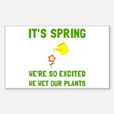 Spring Wet Plants Decal