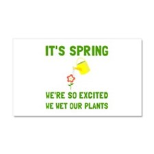 Spring Wet Plants Car Magnet 20 x 12