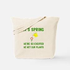 Spring Wet Plants Tote Bag