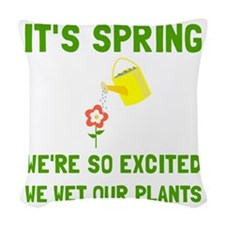 Spring Wet Plants Woven Throw Pillow