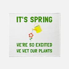 Spring Wet Plants Throw Blanket