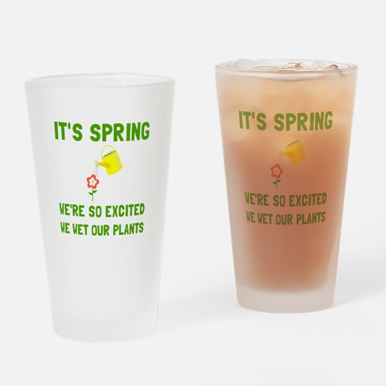 Spring Wet Plants Drinking Glass