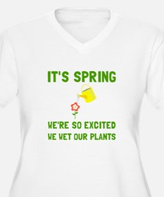 Spring Wet Plants Plus Size T-Shirt