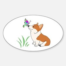 Corgi with butterfly Decal