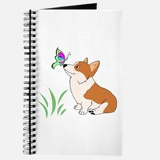 Corgi with butterfly Journal
