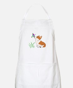 Corgi with butterfly Apron