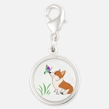 Corgi with butterfly Charms