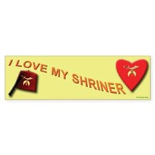 I Love My Shriner Bumper Sticker