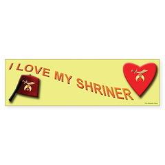 I Love My Shriner Bumper Bumper Sticker
