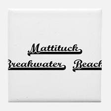Mattituck Breakwater Beach Classic Re Tile Coaster