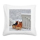 Welsh corgi Square Canvas Pillows